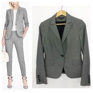 Express Pin Dot One Button Suit Jacket SZ 6